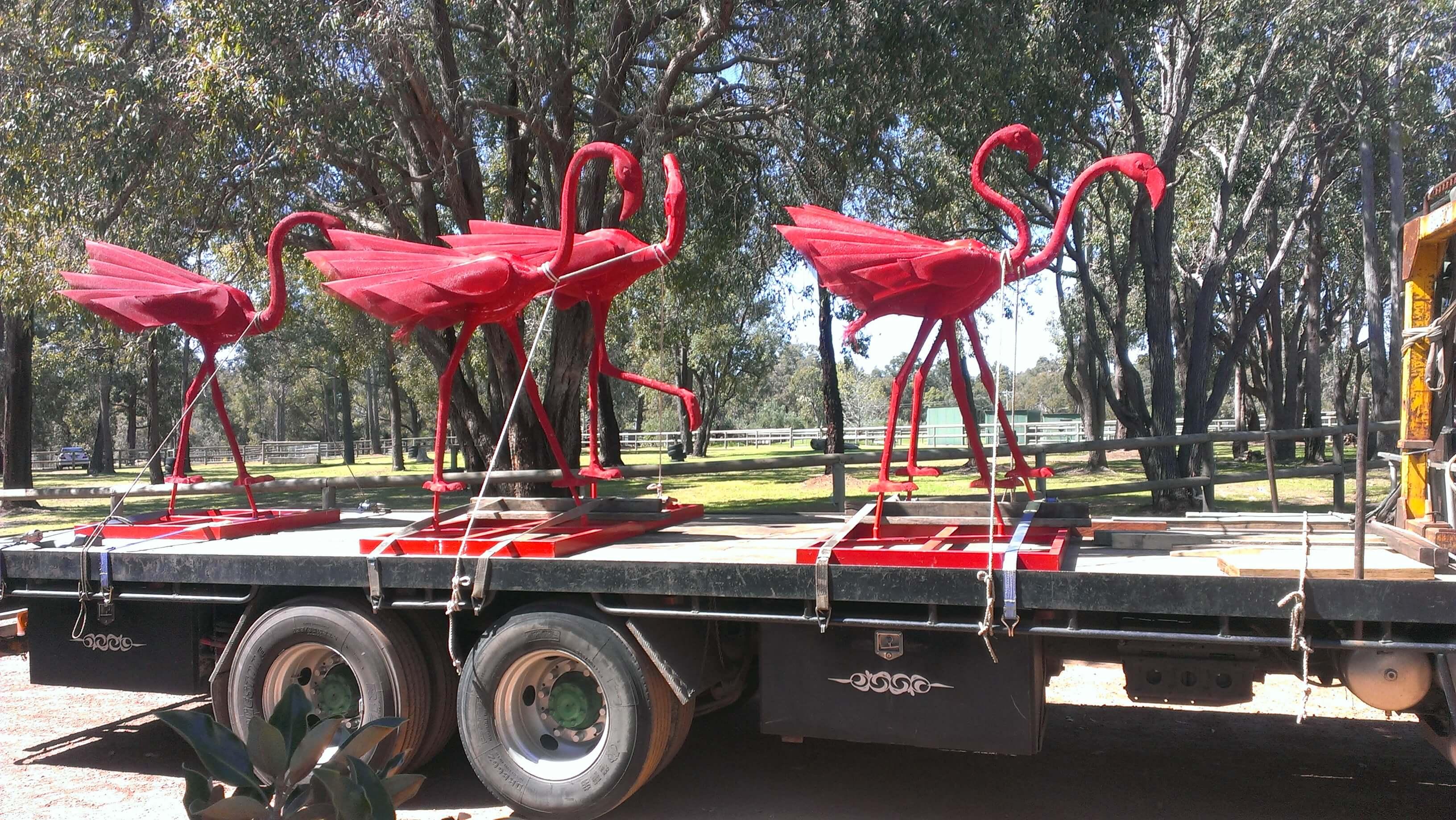 greens_hiab_moving_flamingos_perth